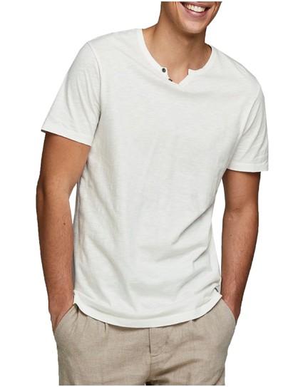 "Jack & Jones Man T-shirt ""SPLIT NECK"""